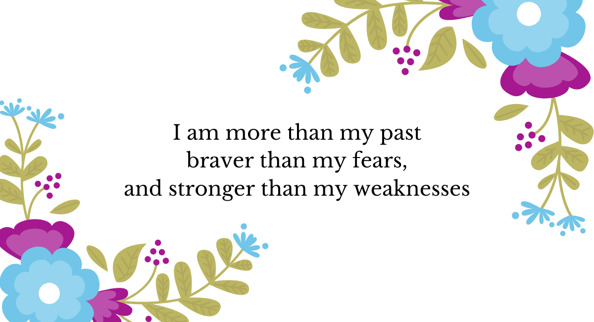 I AM More Than My Past...
