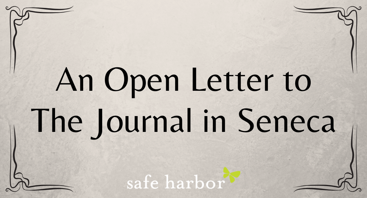 An Open Letter to The Journal in Seneca